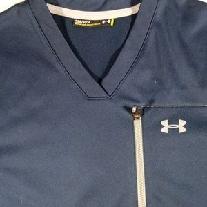 Under Armour Womens Sm Navy Blue Pullover Jacket
